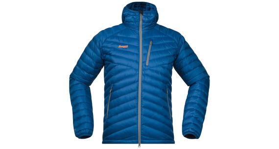 Bergans M's Slingsbytind Down Jacket m/Hood Ocean/Solid Grey/Pumpkin